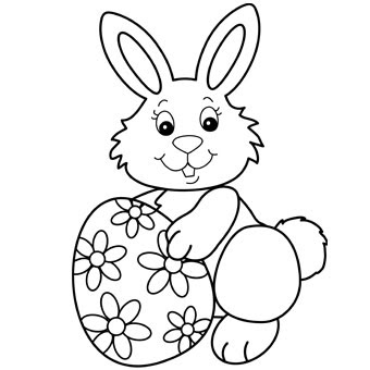 bunny easter coloring pages