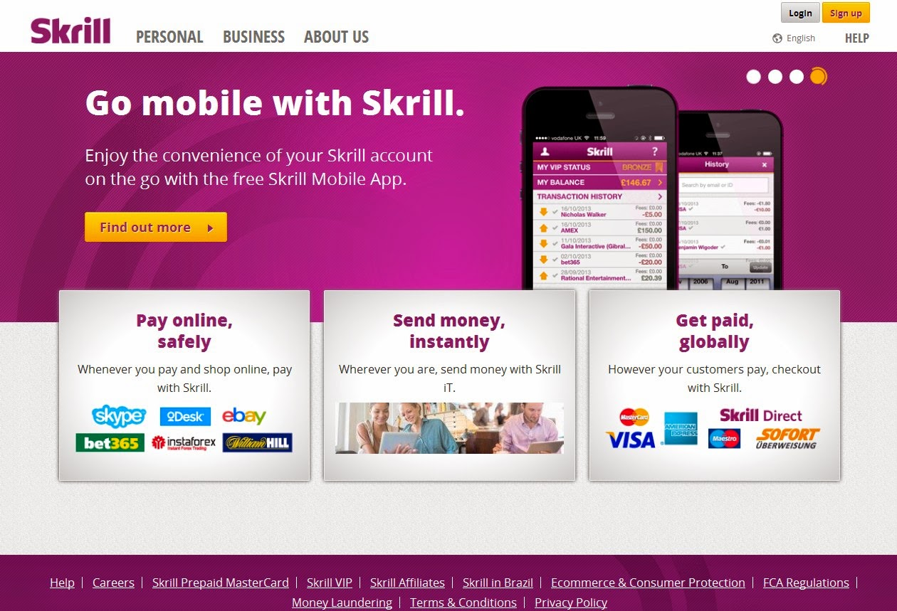 Skrill/Moneybookers Screen