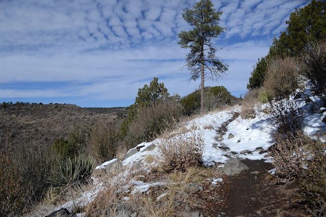 trail along the ridge side