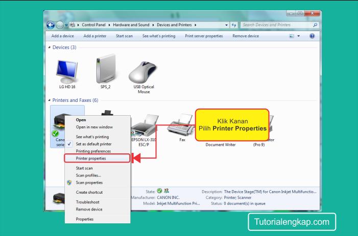 Tutorialengkap 2 Cara konfigurasi Sharing Printer Pada Jaringan Komputer LAN dan WIfi