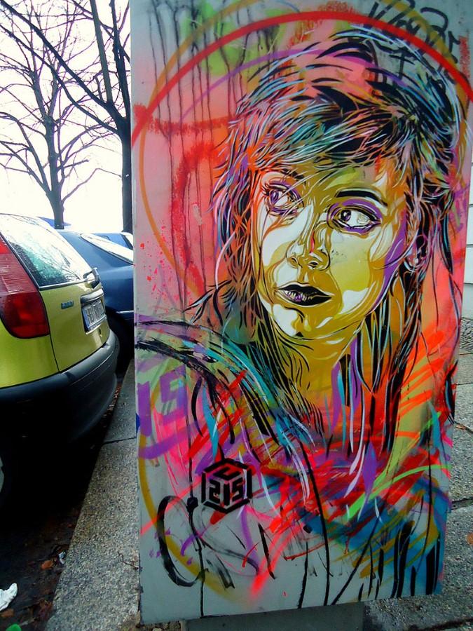 Уличное искусство Кристиана Гуеми (Christian Guémy aka C215) 3