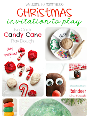 Christmas play dough round up by Welcome to Mommyhood #playdough, #christmasactivities, #christmas, #preschool, #toddlers, #preschoolactivities, #toddleractivities