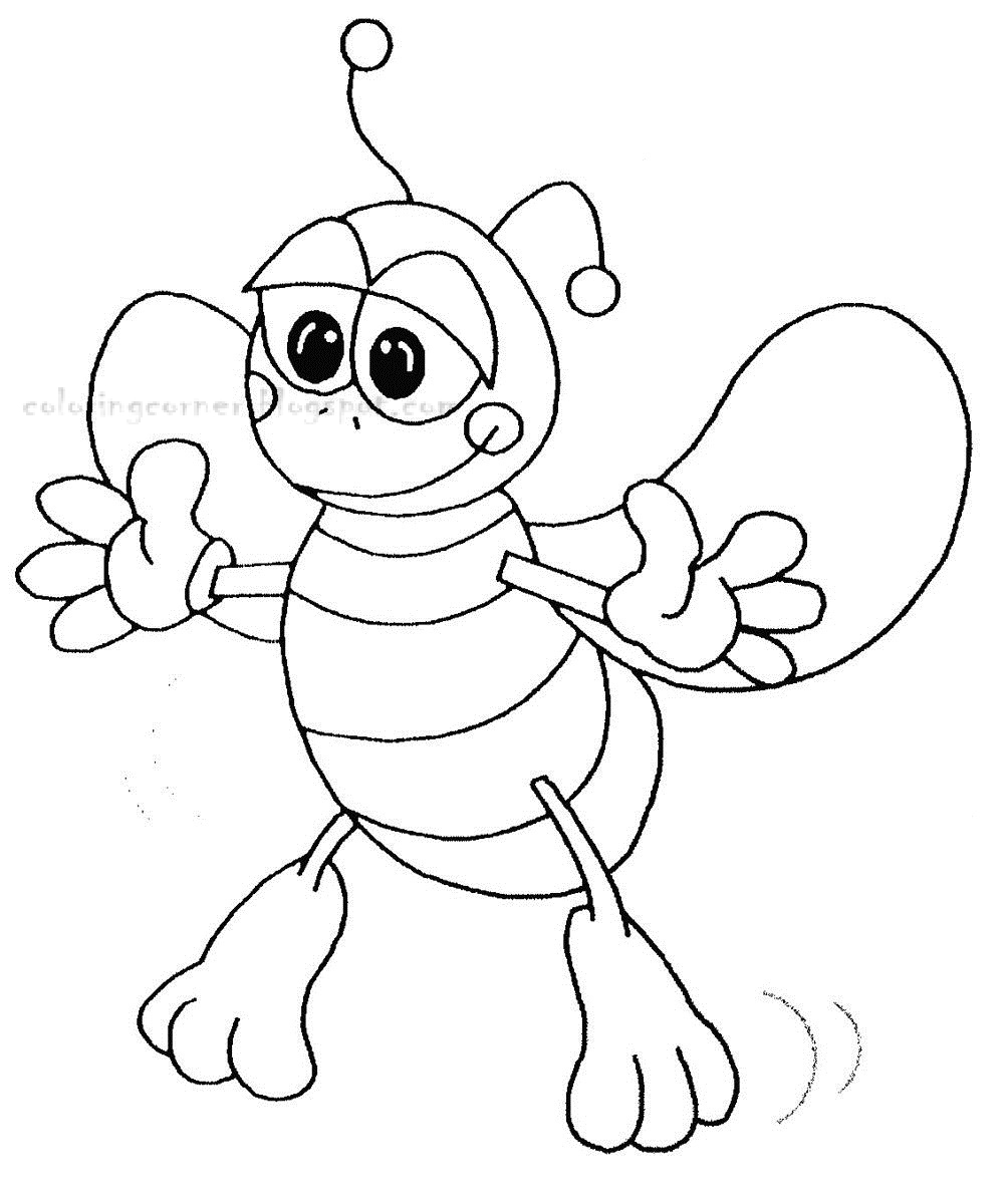printable coloring pages bees coloring pages
