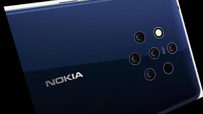 Nokia Smartphone Amongst Penta Lens Photographic Telly Camera Setup