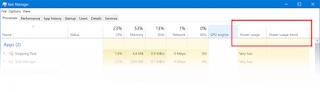 Lacak Penggunaan Daya & pantau Kecenderungan di Pengelola Tugas Windows 10