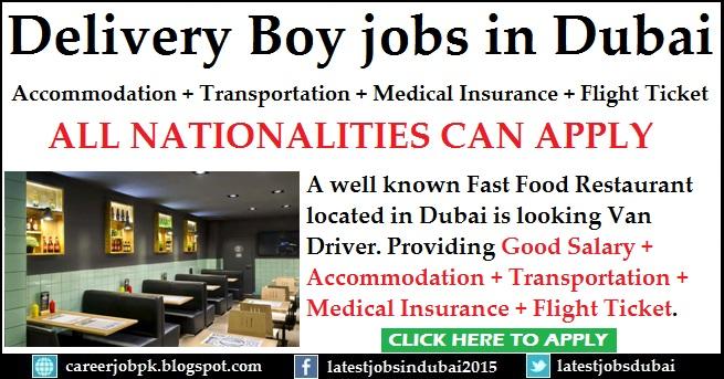 Delivery Boy jobs in Dubai