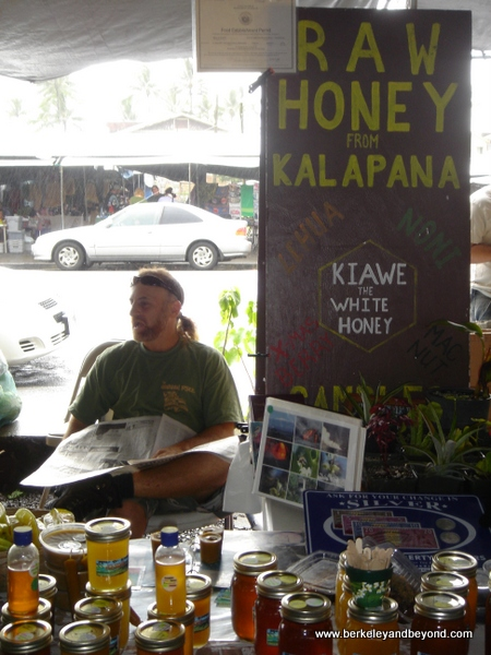 raw honey at Hilo Farmer's Market in Hilo, Hawaii