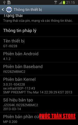 Rom stock tiếng Việt Samsung I9228 4.1.2 alt
