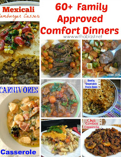 60+ Comforting Dinner Recipes ~ All Family Approved and recipes I make over and over again for many years ! The collection include Slow-Cooker recipes, Baked recipes, Stove Plate recipes and many more #ComfortFood #ComfortDinnerRecipes #RoundUp www.WithABlast.net