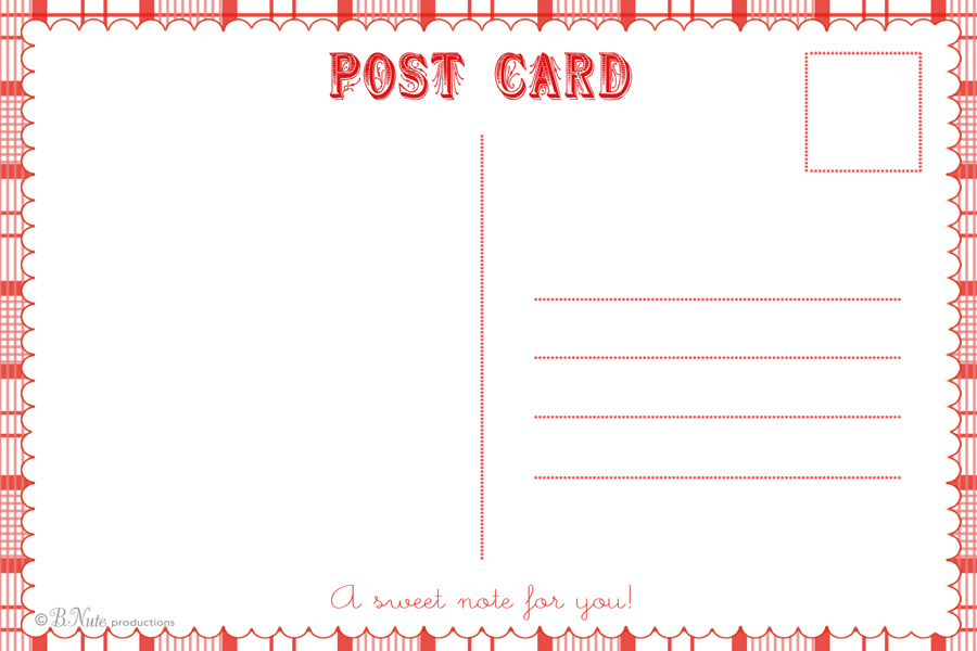 Postcard Design Template