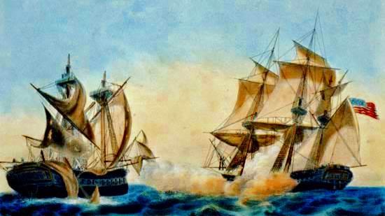Fragata de los Estados Unidos. Los EEUU que captura la fragata británica Macedonian