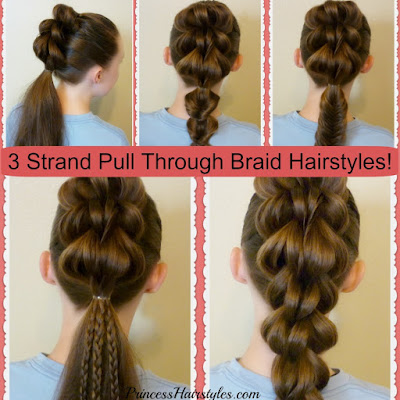 3 strand pull through braid video instructions and 5 ways to wear it.