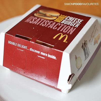 simon food favourites mcdonald s double cheeseburger for  mcdonald s double cheeseburger for 2 randwick 10 jan 2012