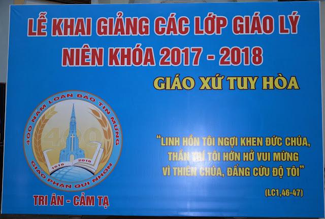 Giáo xứ Tuy hòa khai giảng niên khóa giáo lý  2017 - 2018