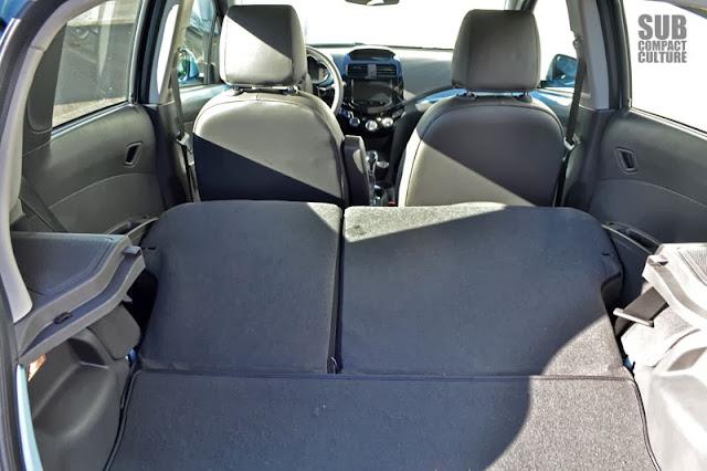 Chevy Spark EV rear seats