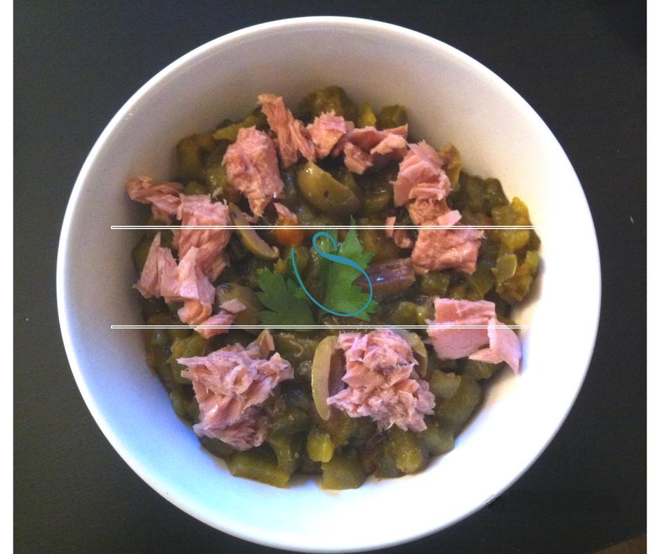 "Tunisian grilled pepper salad - Salade de poivrons grillés Tunisienne, ""Slata mechwiya"""