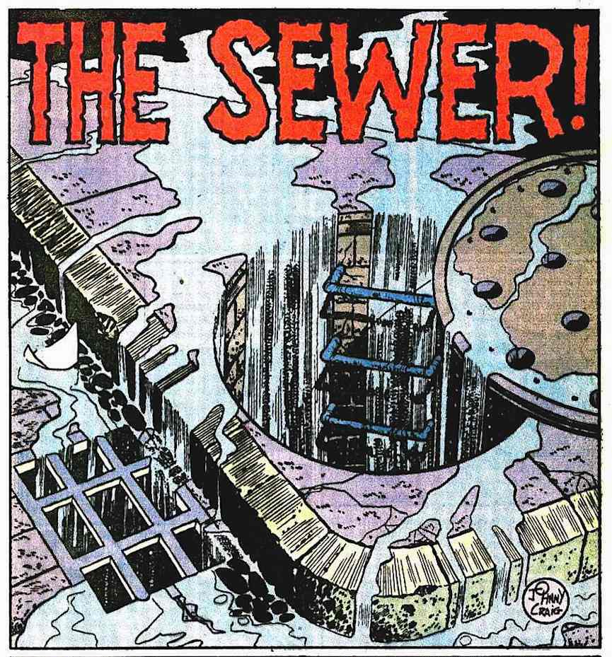 "a Johnny Craig story panel for EC Comics, ""The Sewer"""