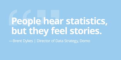 """Cita: """"La gente escucha las estadísticas, pero siente las historias"""""""