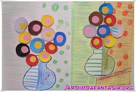 Releitura obra de arte Flower Romero Britto e Reciclagem Divertida