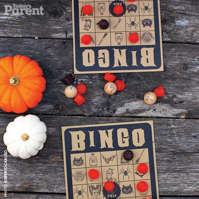 bingo halloween para que permanezcan tranquilos y atentos