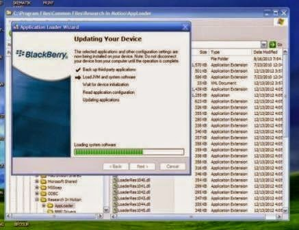 Cara Flash Blackberry Onik 9700