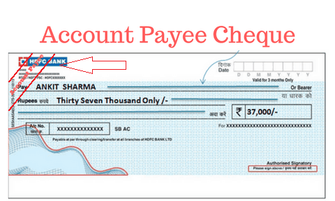 ACCOUNT PAYEE CHEQUE