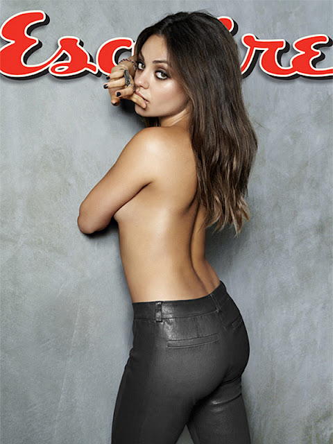 Mila Kunis Topless Nude - Sexiest Woman Alive 2012 Photo Shoot by Esquire