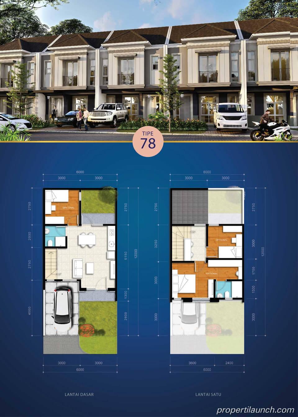 Rumah Visana The Savia BSD Tipe 78
