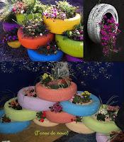 Neumáticos reciclados e ideas para el jardín