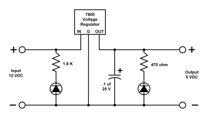 Tracks across Nevada: A simple voltage regulator
