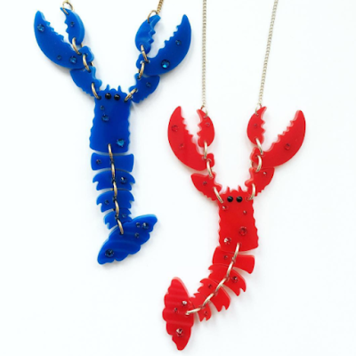 Tatty Devine Giant Lobster Necklace Jewellery Curated