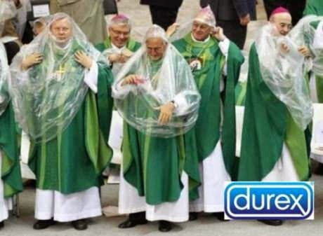 Catholic church Durex condom sponsorship picture