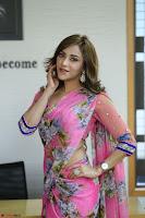 Angela Krislinzki Rogue Movie Fame Telugu Actress in Saree Backless Choli 103.JPG