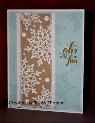 Festive Flurry, Christmas card, snowflake, Stamp with Trude, Stampin' Up!