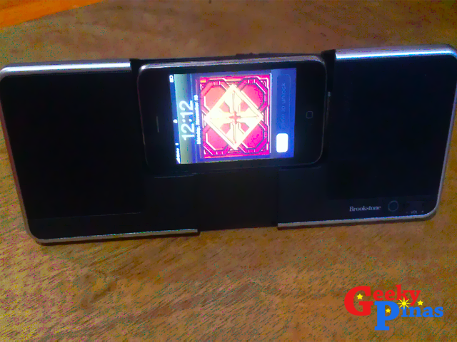 Brookstone Flip Dock Speaker for Music & Movies On-The-Go!