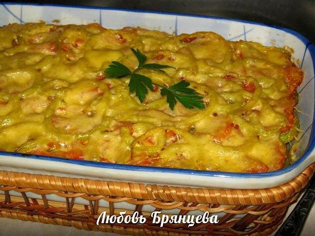 овощная запеканка с кабачками рецепт с фото