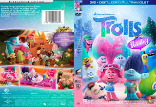 Trolls Holiday 2017 Dvd Cover