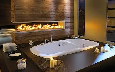 Baño moderno marrón