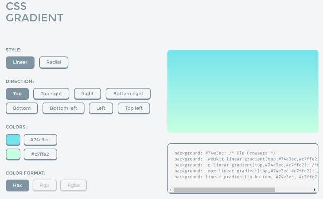 Css gradient online gradient generator