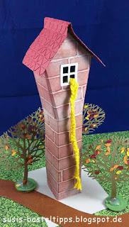 Stampin' Up! Miniatur Märchenland Rapunzels Turm mit Zopf