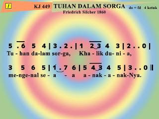 Lirik dan Not Kidung Jemaat 449 Tuhan Dalam Sorga