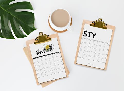 Kalendarz 2019 do wydruku (minimalistyczny i vintage)