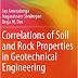 Correlations of Soil and Rock Properties in Geotechnical Eng.