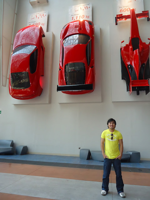 Ferrari Wall Decor Cars at Ferrari World, Yas Island Abu Dhabi