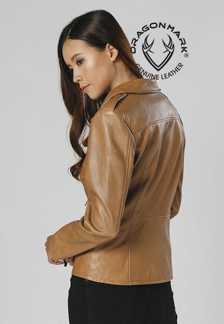 áo khoác da nữ cá tính