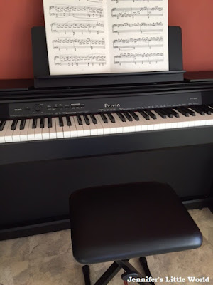 Playing a digital piano