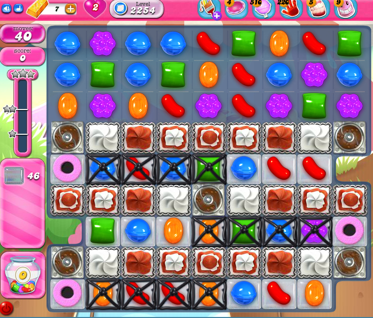 Candy Crush Saga level 2254