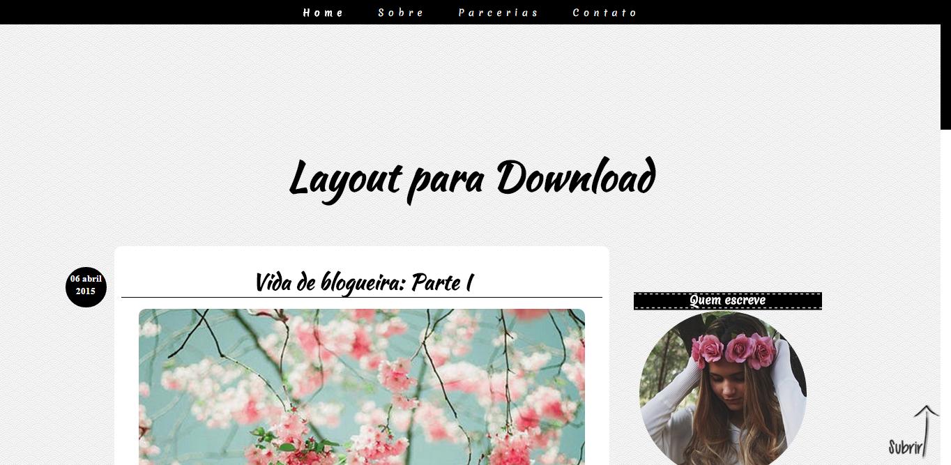 Layout Free Clean para seu blog