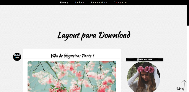 Layout Free Clean para seu blog