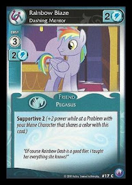 My Little Pony Rainbow Blaze, Dashing Mentor Canterlot Nights CCG Card
